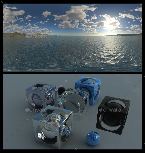 Coastal Clouds 5 - HDRI - 3DOcean Item for Sale
