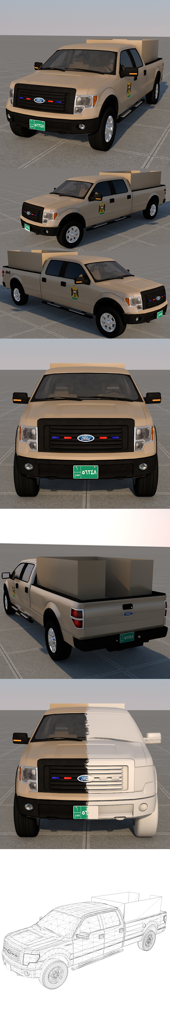 Ford F-150 2011 - Army Of the iraq [ FULL ] - 3DOcean Item for Sale
