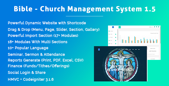 Bible - Church Management System 1.5 - CodeCanyon Item for Sale
