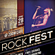 Rock Festival Flyer / Poster - GraphicRiver Item for Sale