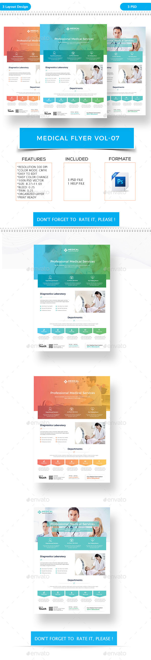 Medical Flyer VOL-7 - Flyers Print Templates