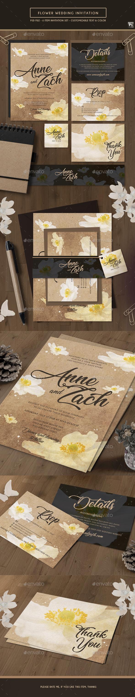 Flower Vintage Wedding Invitation - Weddings Cards & Invites