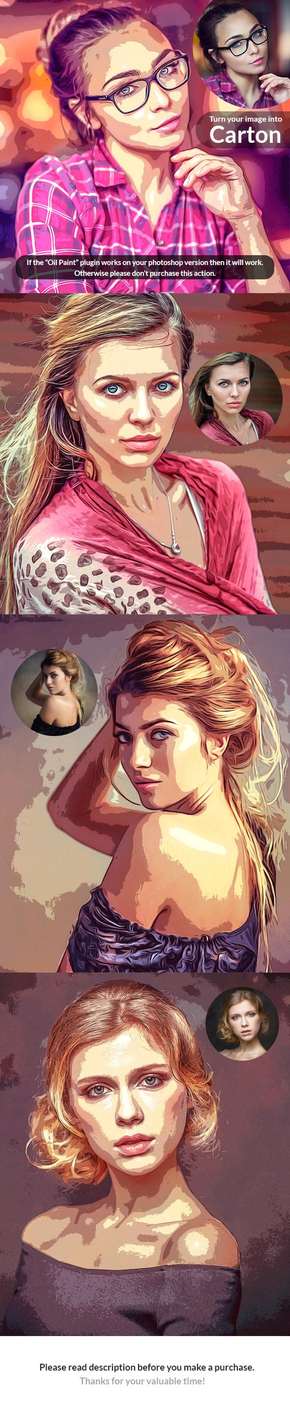 Color Sharpen Oil Paint - Photo Effects Actions