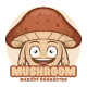 Mushroom Mascot Character - GraphicRiver Item for Sale