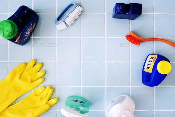 Set of washing and cleaning equipment - Stock Photo - Images