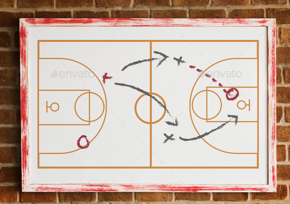 Sport coaching board game tactic - Stock Photo - Images