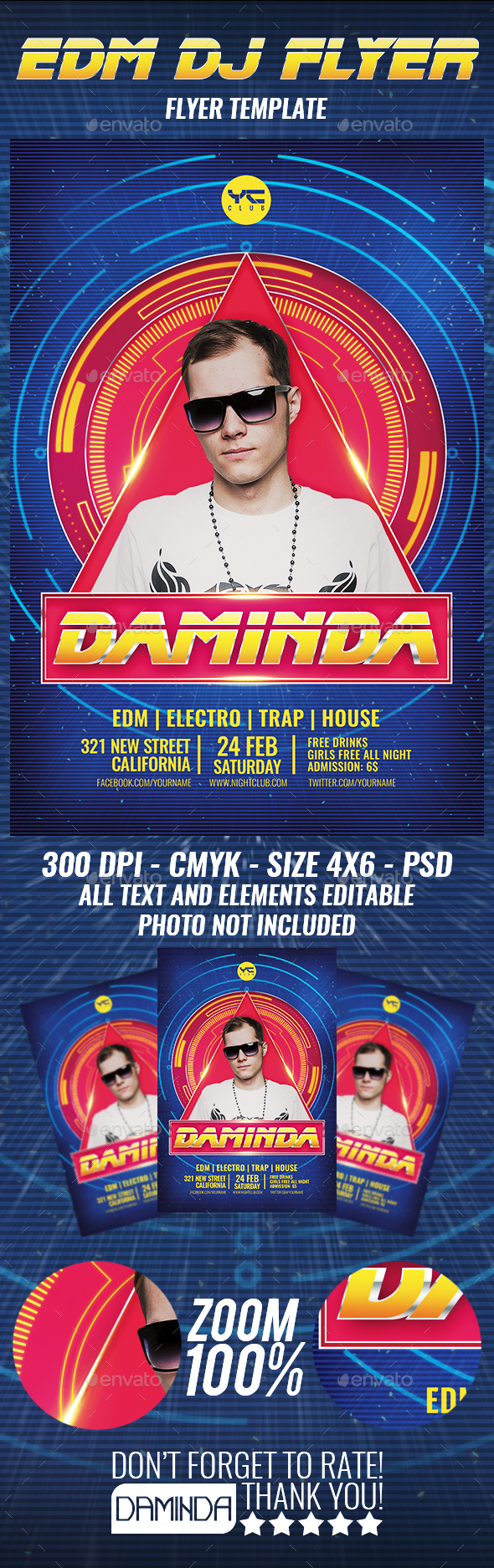 Electro Dj Poster 10 Flyer Template - Clubs & Parties Events