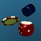 Falling Poker Chips and Dice - VideoHive Item for Sale