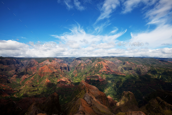 Canyon in Kauai - Stock Photo - Images