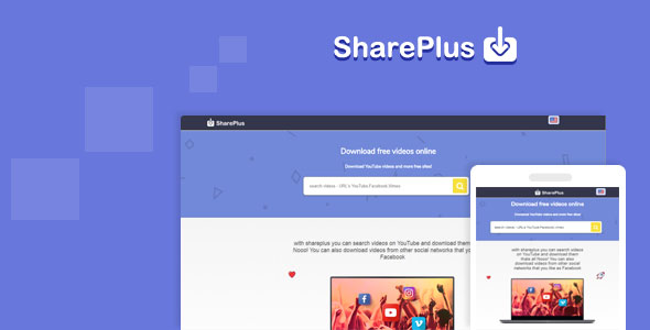 Shareplus Video Downloader from youtube, facebook,instagram and video search - CodeCanyon Item for Sale
