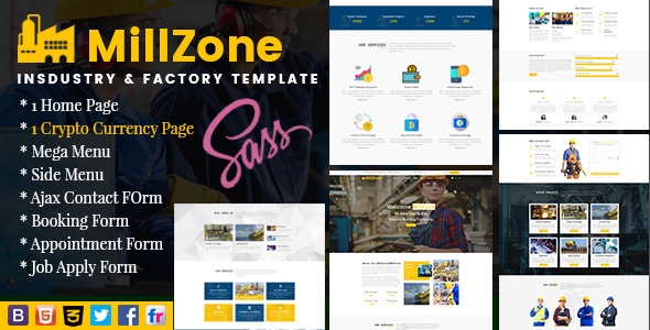 MillZone Insdustry & Factory Base HTML Template