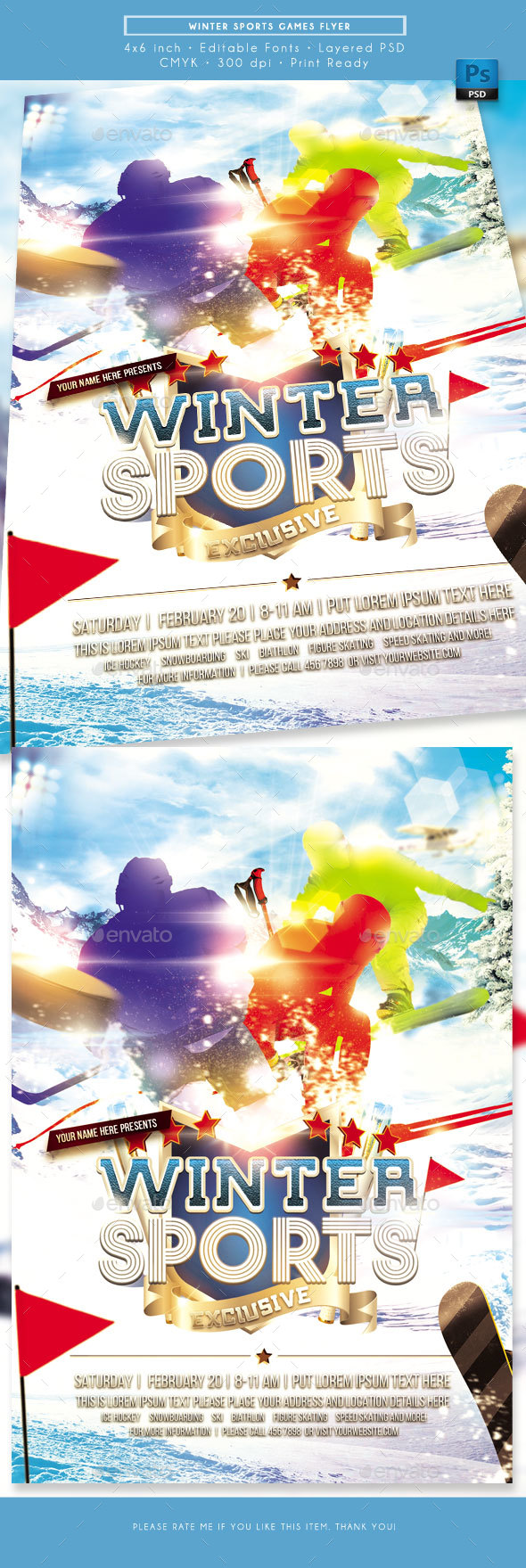 Winter Games Sports Flyer - Sports Events