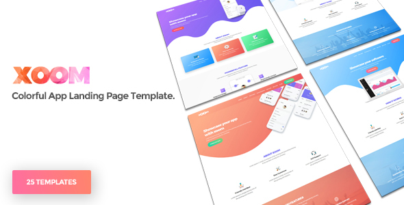 XOOM | App Landing Page Template - Apps Technology