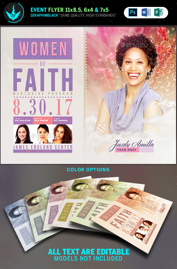 Women of Faith Conference Flyer Template - Church Flyers