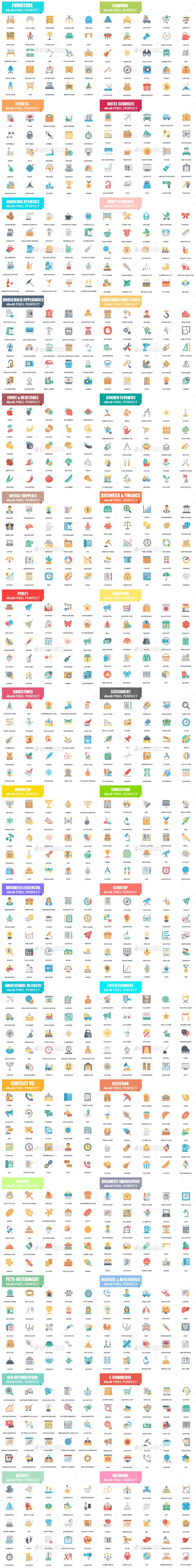 Flat Icons - Icons