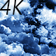 Flying Through Abstract Dark Clouds to the Big Moon - VideoHive Item for Sale