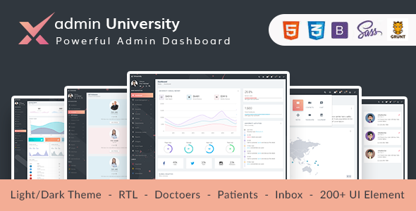 adminX University - Material Admin Dashboard UI Kit