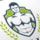 Gym Shield Crest Logo