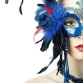 The beautiful young girl in a mysterious mask - PhotoDune Item for Sale