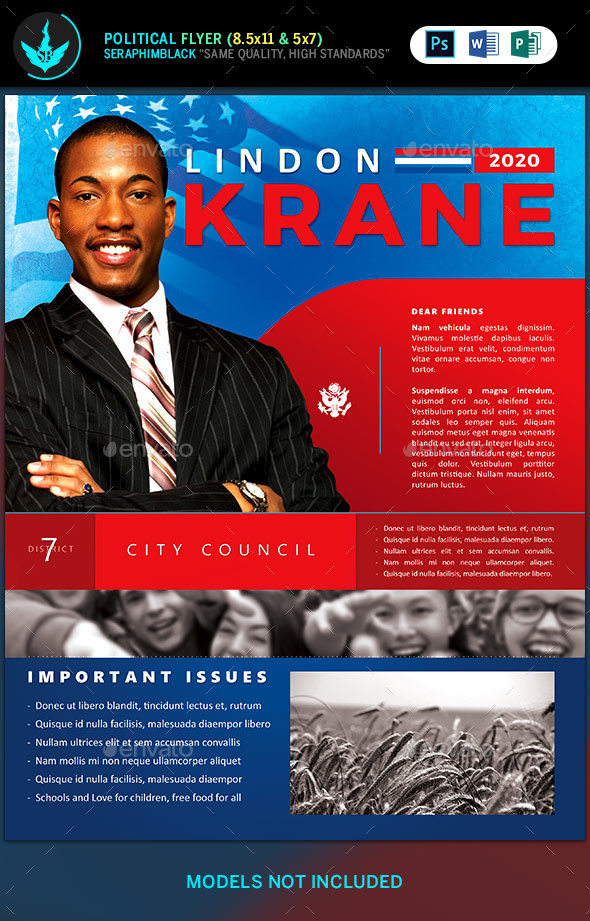 Political Candidate Flyer Template - Corporate Flyers