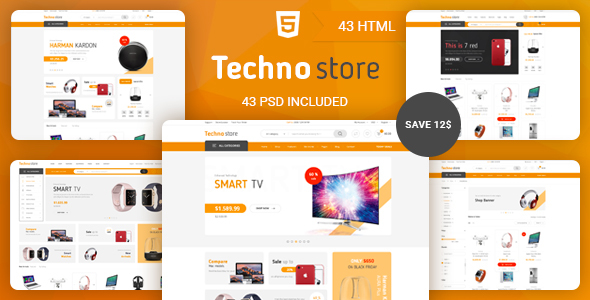 Techno Store - Electronic eCommerce HTML Template