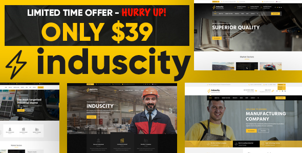 Induscity - Factory & Industrial Business WordPress Theme