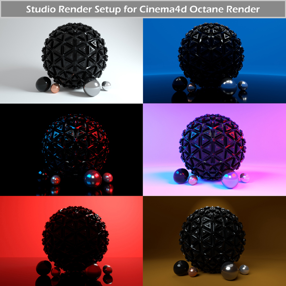 Octane Render Studio Setup for Cinema4d - 3DOcean Item for Sale
