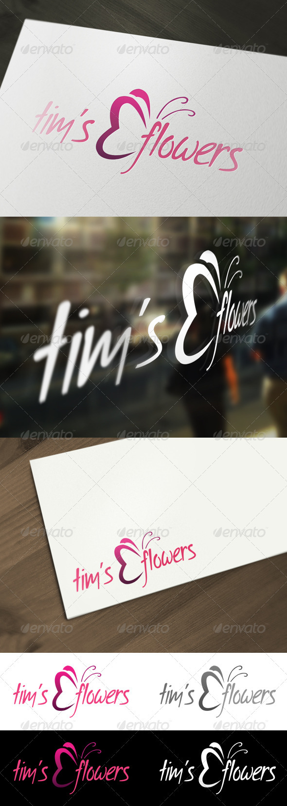Flower - Florist Logo Template - Animals Logo Templates