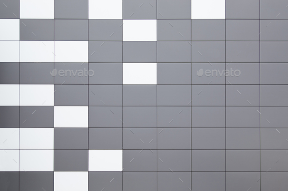 modern metal facade tiles - Stock Photo - Images
