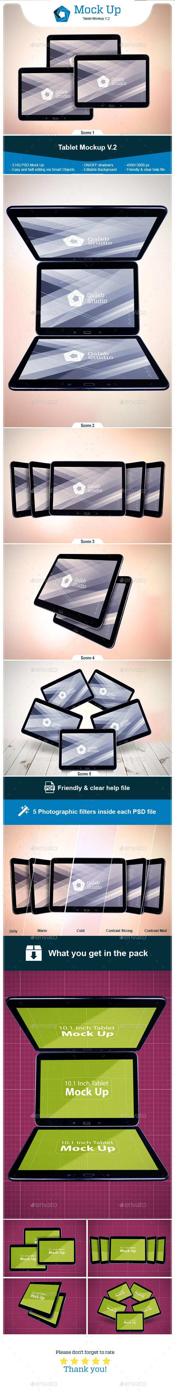 Tablet Mockup V.2 - Miscellaneous Print