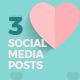 Valentines Day Social Media Posts - GraphicRiver Item for Sale