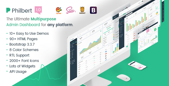 Philbert - Multipurpose Bootstrap Admin Dashboard Template + UI Kit