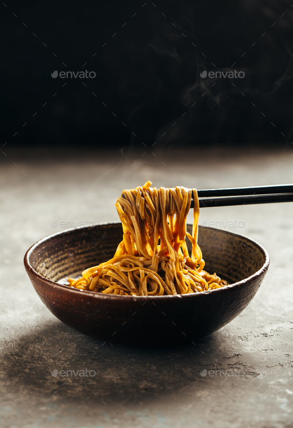 Noodles in a bowl - Stock Photo - Images