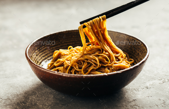Asian noodle dish - Stock Photo - Images