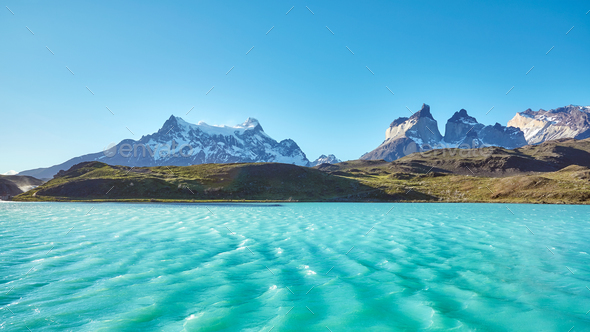 Pehoe Lake and Los Cuernos, Chile
