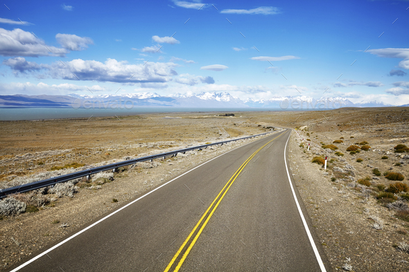 Road to El Chalten, Argentina. - Stock Photo - Images