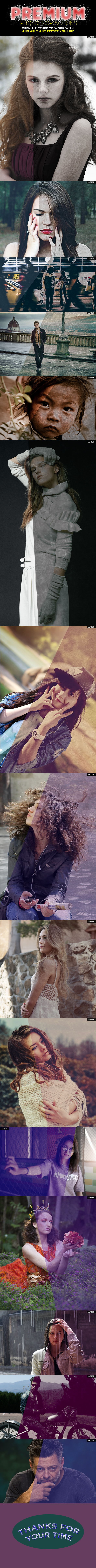 grunge Photoshop Actions - Photo Effects Actions