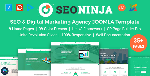 SEO Ninja - SEO & Digital Marketing Agency Joomla Template