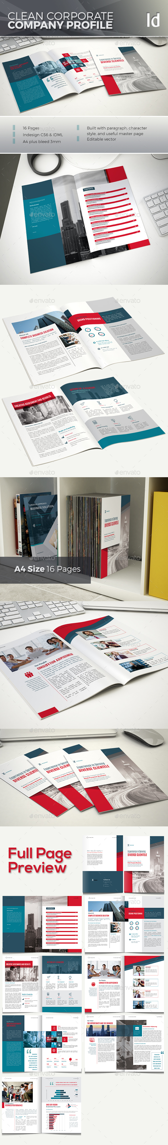 Corporate Company Profile - Brochures Print Templates