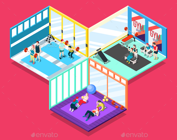 Gym Isometric Design Concept - Sports/Activity Conceptual