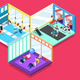 Gym Isometric Design Concept