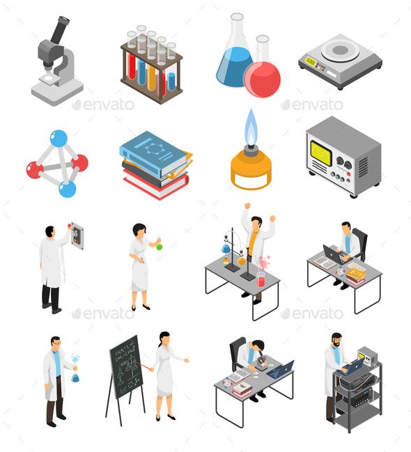 Scientific Laboratory Elements Set - Health/Medicine Conceptual