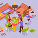 Board Games Kids Isometric Illustration