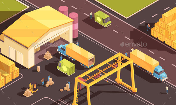 Urban Stock Logistics Composition - Miscellaneous Vectors