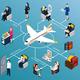 Airplane Passengers Isometric Flowchart