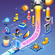 Business Start Isometric Composition