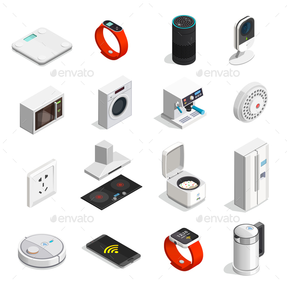 Internet of Things Isometric Icons - Computers Technology