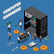 IT Engineer Isometric Compoisition - GraphicRiver Item for Sale