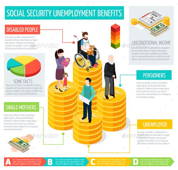 Social Security Infographic Set - Health/Medicine Conceptual