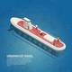 Submarine Underwater Travel Isometric Composition